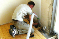 Fußboden Einblasvorgang 2