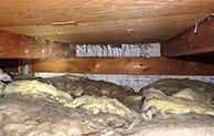 Flachdach innen Holz