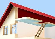 Haus coloriert